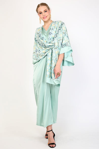 Kanzi Mint Dress Kaftan