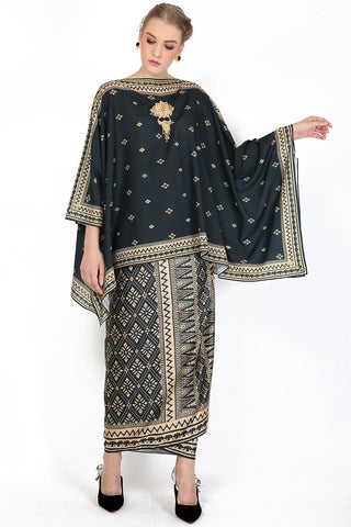 Kanzi Black Tunik Set with Sarong