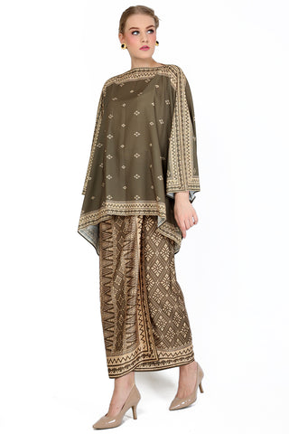 Kanzi Bronze Tunik Set with Sarong