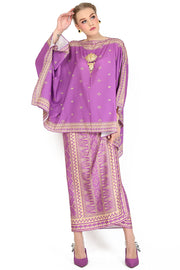 Kanzi Purple Tunik Set with Sarong
