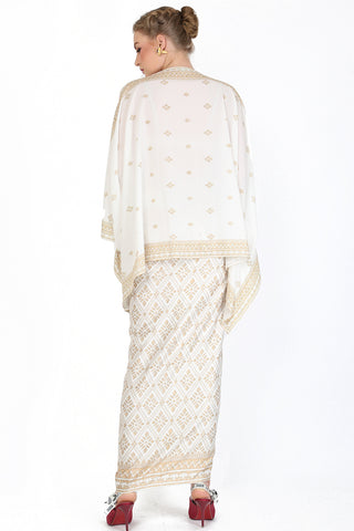 Kanzi White Tunik Set with Sarong
