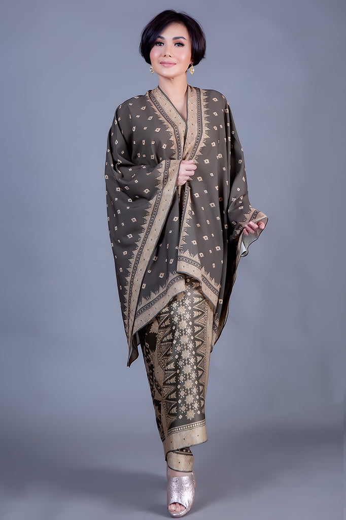 Kanzi_YS Bronze Tunik Set with Sarong
