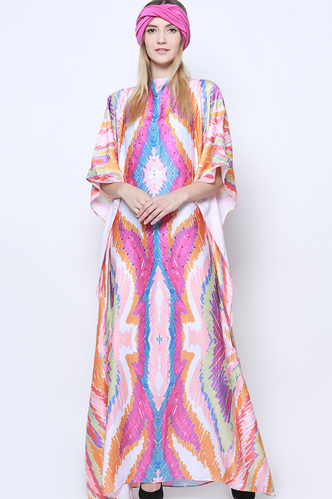 Watercolor Printed Kaftan