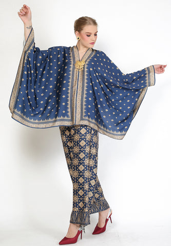Kanzi Blue Tapis Tunik Set with Pants