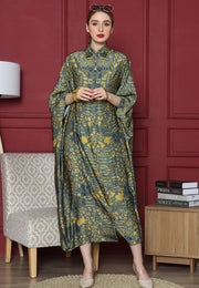 Green safari New Button Kaftan