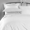1000 Thread Count Fitted Sheet White DOUBLE