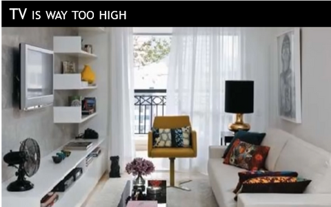 Not Only Is Having Your TV At The Correct Height Important, But Equally  Important Is Your Distance From The TV. As A Rule Of Thumb, To Calculate  The ...