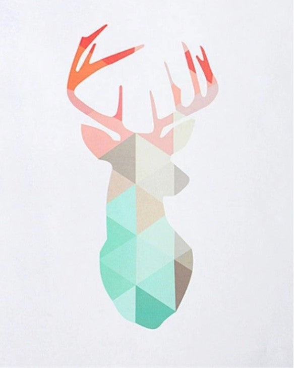 Deer Canvas Art Print - LX Crafts Co
