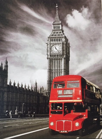 Double Decker & Big Ben Canvas - LX Crafts Co