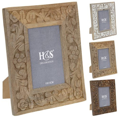 Floral Wooden Photoframe - LX Crafts Co
