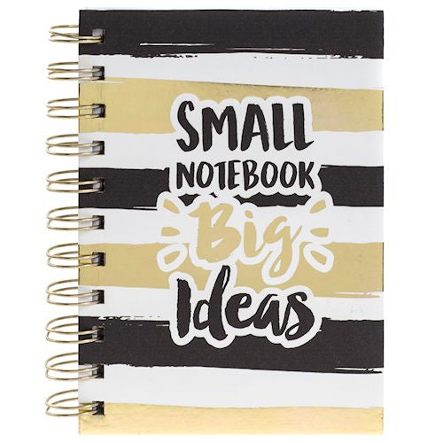 Gold Stripe Notebook Big Ideas - LX Crafts Co