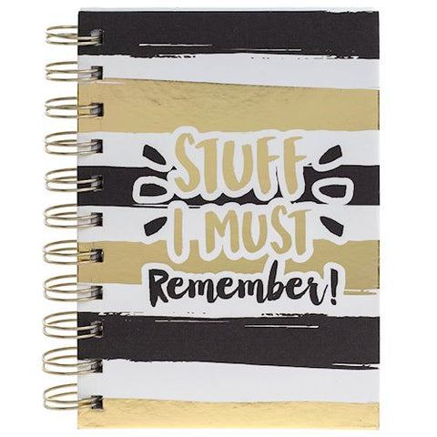 Gold Stripe Notebook Must Remember - LX Crafts Co