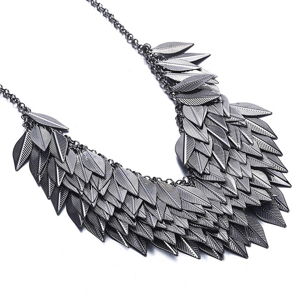 Vintage Leaf Layered Necklace - LX Crafts Co