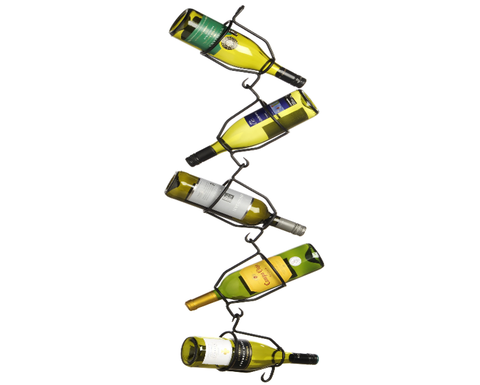 Hanging Zig-Zag 5 Bottle Wine Holder - LX Crafts Co