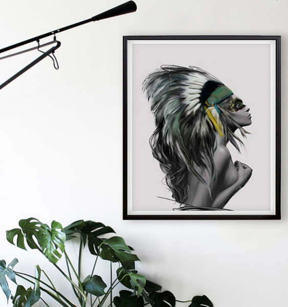 HEADDRESS Print | The Linn Wold Collection - LX Crafts Co