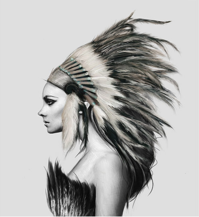 HEADDRESS 2 Print | The Linn Wold Collection - LX Crafts Co