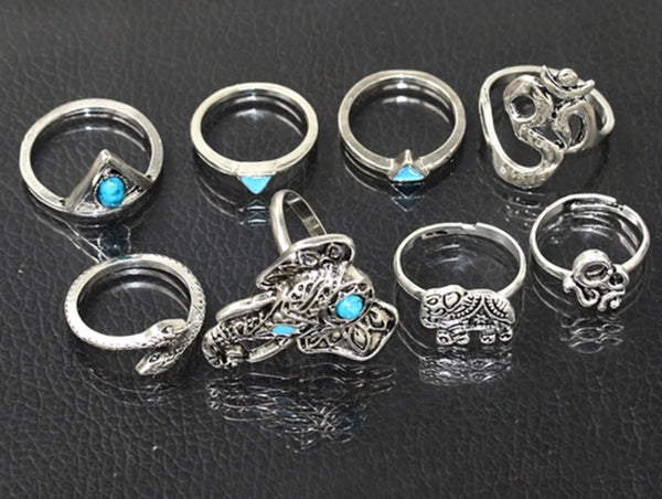 Bohemian Ring Set - LX Crafts Co