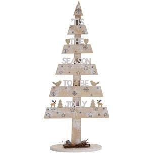 Large 'Tis the season to be jolly' Christmas Tree - LX Crafts Co