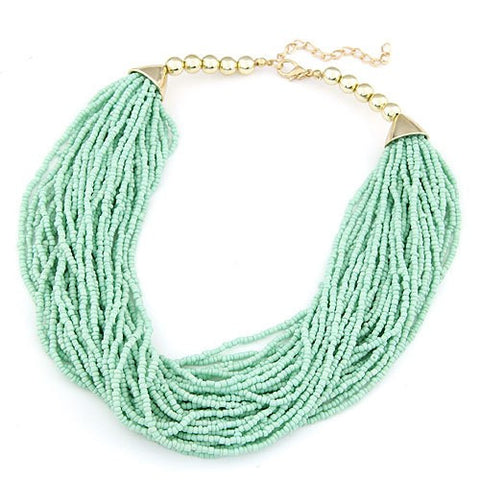 Multilayer Beaded Necklace - LX Crafts Co