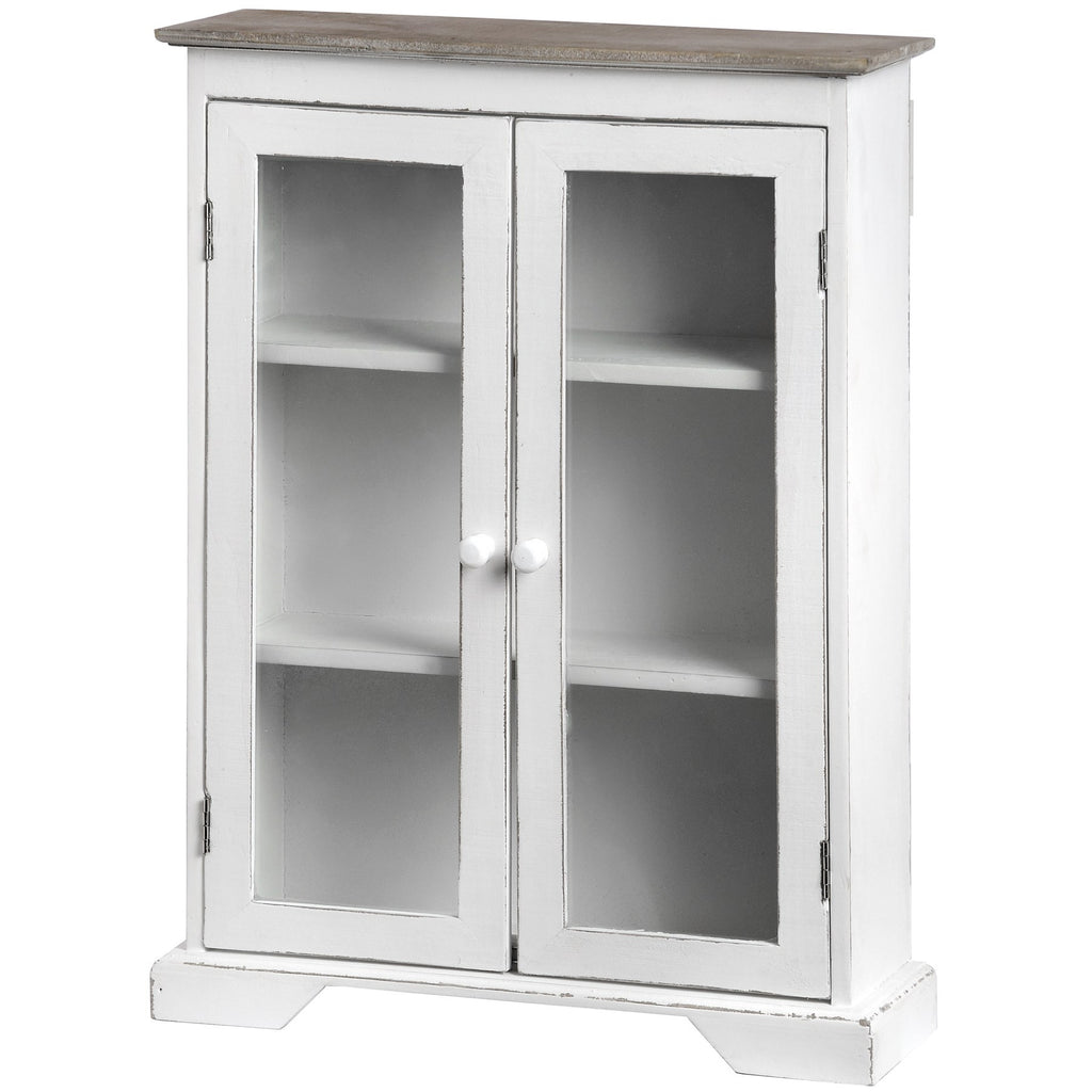 Mini Cabinet with Glass Fronted Doors - LX Crafts Co