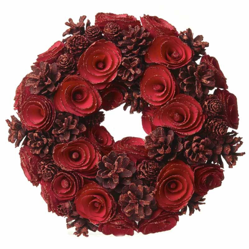 Red Pinecone Wreath - LX Crafts Co