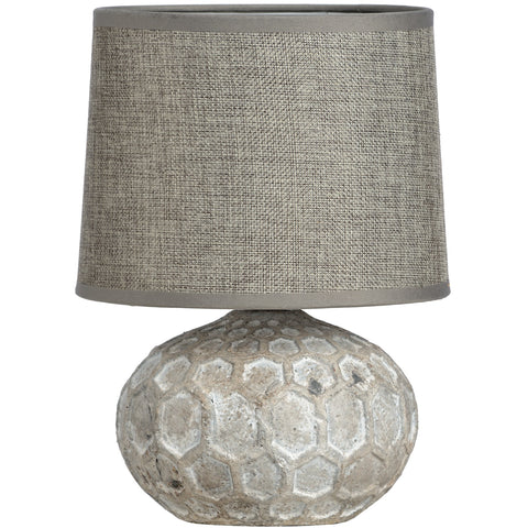 Stone Effect Patterned Ceramic Table Lamp - LX Crafts Co