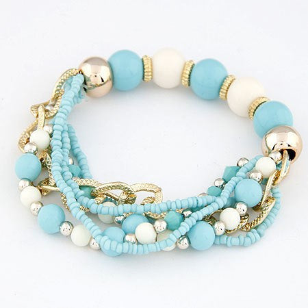 Turquoise Resin Beads Bracelet - LX Crafts Co