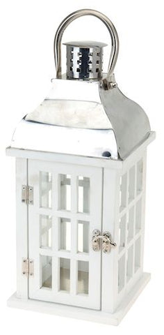 White Wooden Lantern - LX Crafts Co