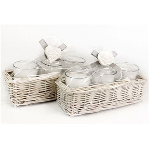 Willow Basket Candle Pot Set - LX Crafts Co