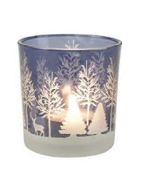 Winter Woodland Ice Votive Holder - LX Crafts Co