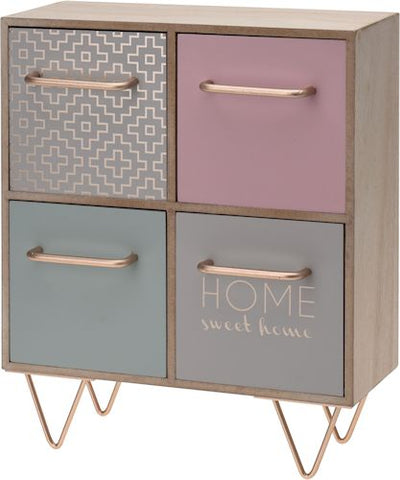 Wooden Spring Toned Cabinet - LX Crafts Co