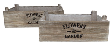 Wooden Crate Planters - LX Crafts Co