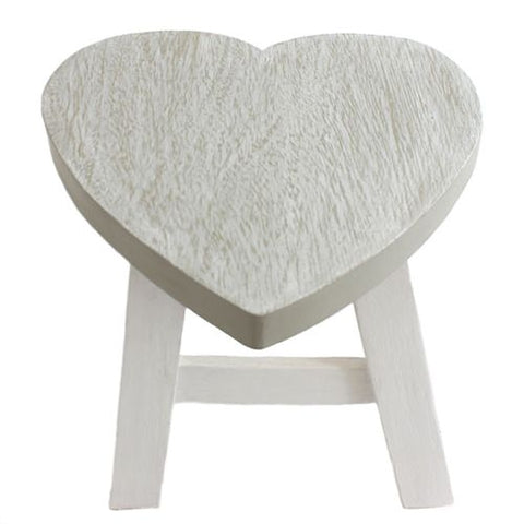 Wooden Heart Shaped Stool - LX Crafts Co