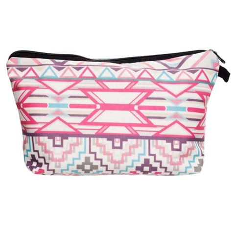 Geometric Patterned Make-up Bag - LX Crafts Co