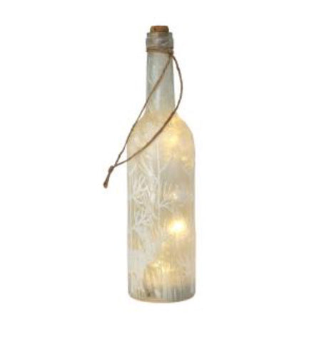 LED Winter Scene Frosted Glass Bottle - LX Crafts Co