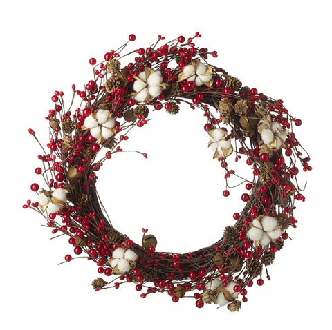 Red Berry Christmas Wreath - LX Crafts Co