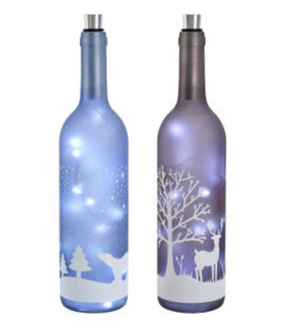 LED Winter Scene Bottle - LX Crafts Co