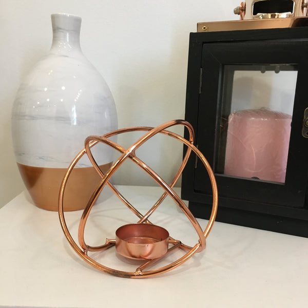 Orbit Copper Wire Tealight Holder - LX Crafts Co