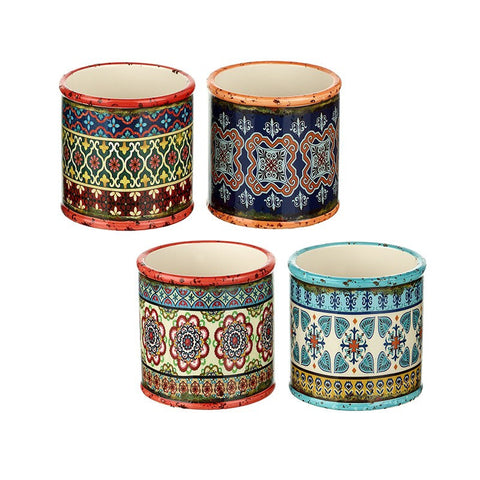 Boho Patterned Round Pots - LX Crafts Co