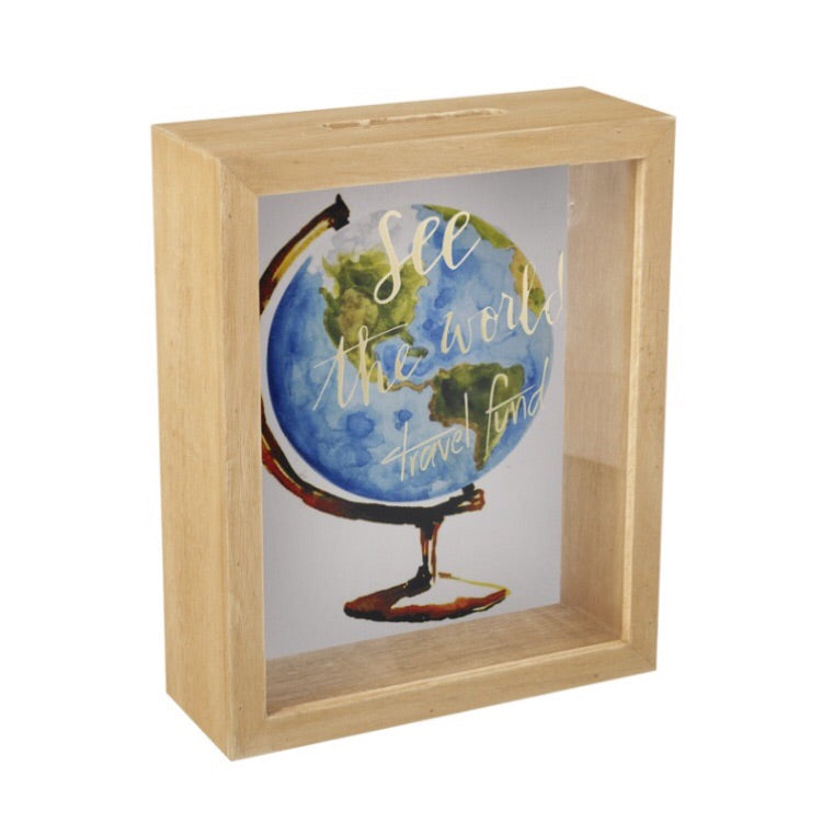 See the World Travel Money Box - LX Crafts Co
