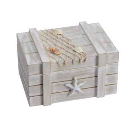 Coastal Shell Chest - LX Crafts Co