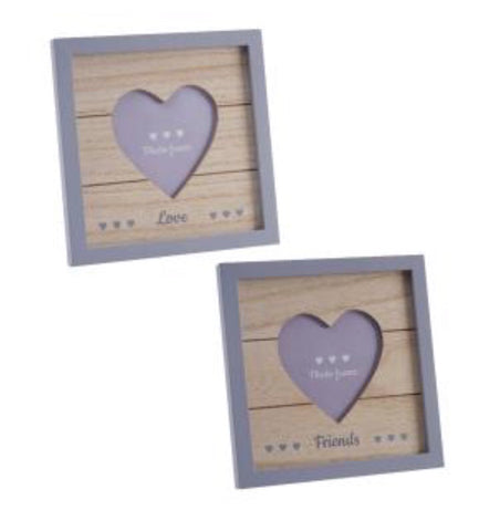 Vintage 'Love/Friends' Square Photo Frame - LX Crafts Co