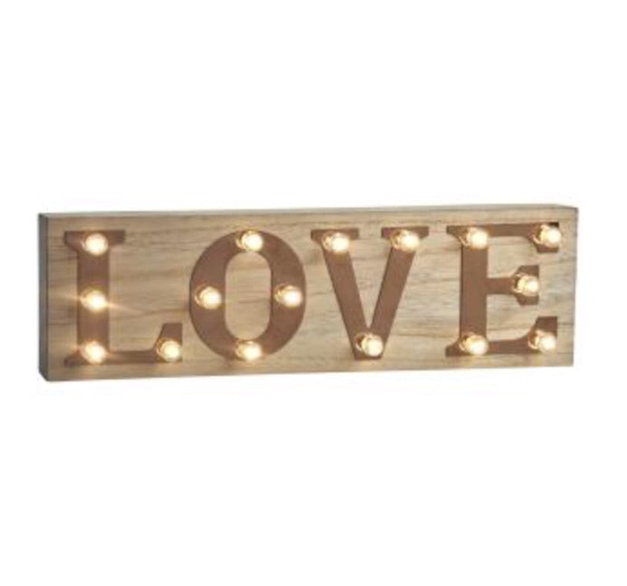 Retro Illuminated LOVE Sign - LX Crafts Co