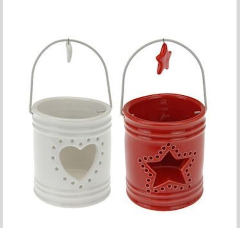 Xmas Ceramic Tealight Holder - LX Crafts Co