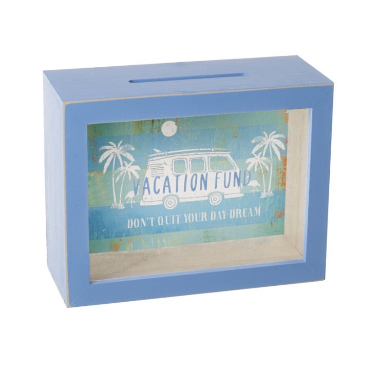 Vacation Fund Money Box - LX Crafts Co