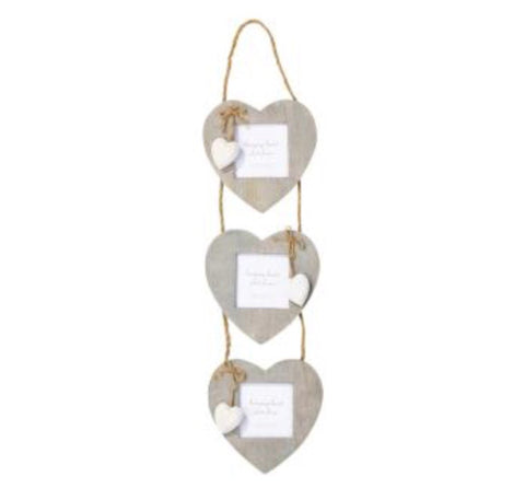 Triple Hanging Heart Frames - LX Crafts Co