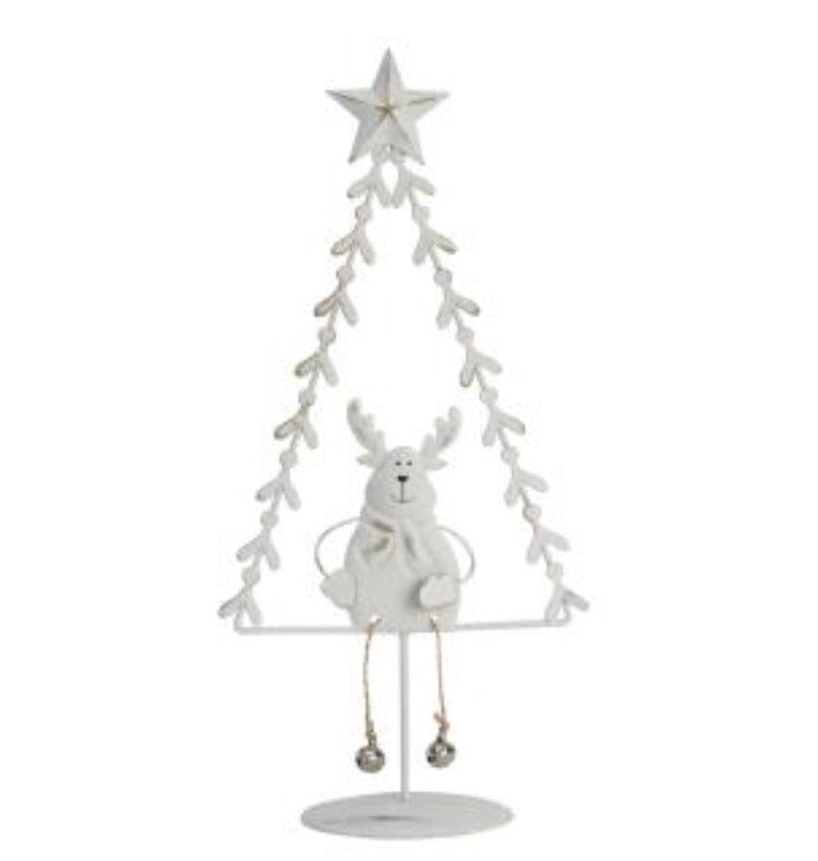 Reindeer with Dangly Legs Sitting in Tree - LX Crafts Co