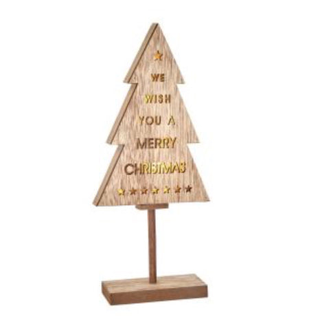 LED Wooden Christmas Tree - LX Crafts Co