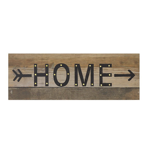 Home Sign with LED Lights - LX Crafts Co