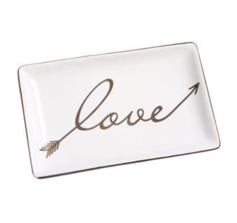"CHLOE ""Love"" Arrow Ceramic Tray - LX Crafts Co"